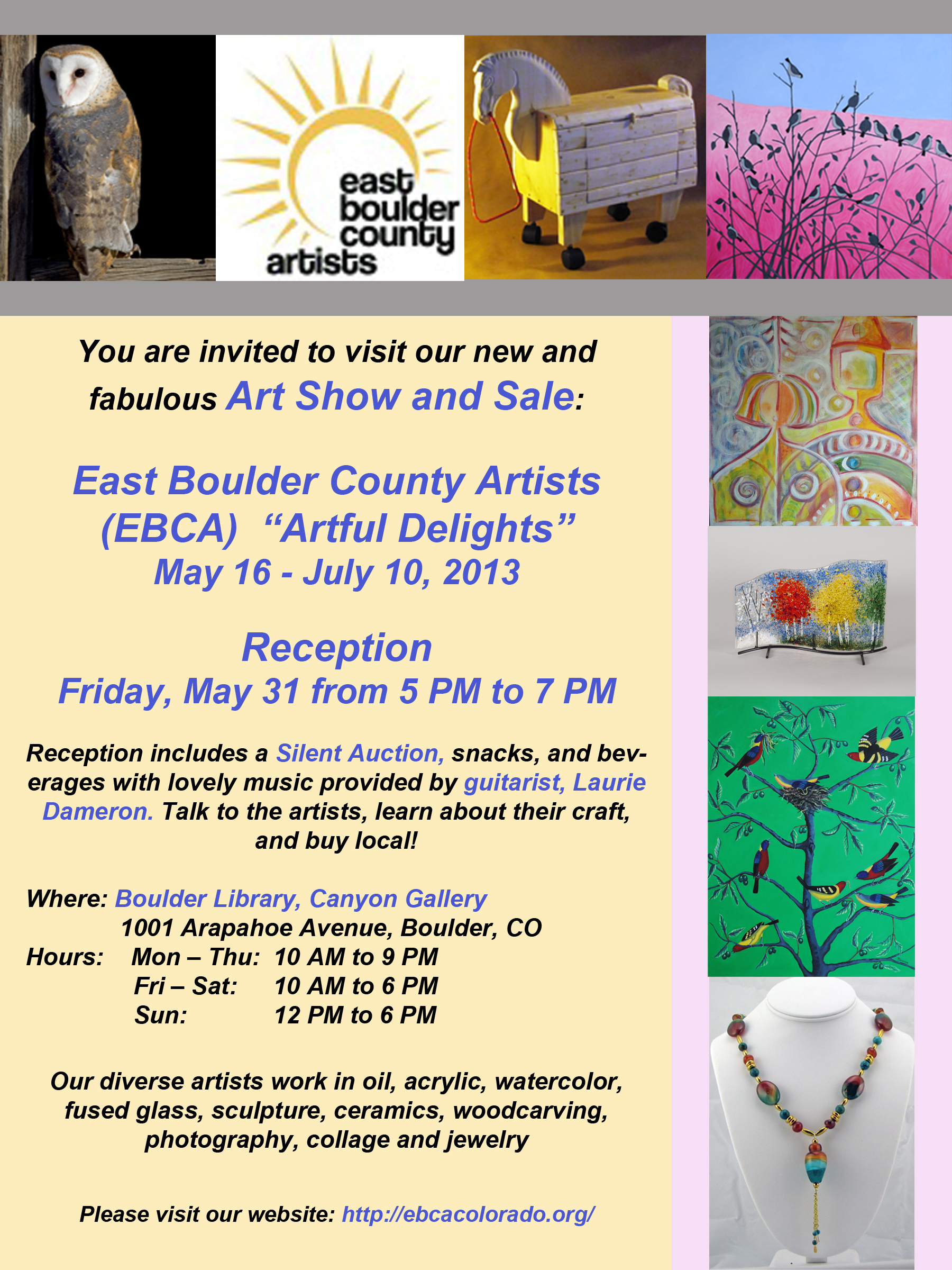 EBCA Show at Boulder Public Library